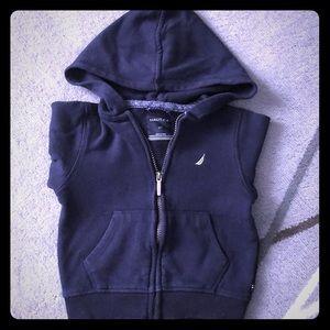 Nautica hoodie with front zipper